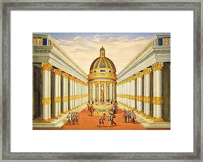 Bacchus Temple Framed Print by Giacomo Torelli