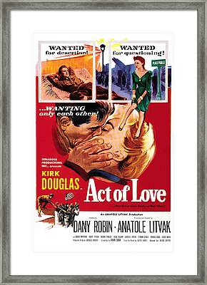 Act Of Love, Us Poster, Top From Left Framed Print by Everett