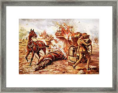 Acting-bombardier H.a. Creasey Framed Print by George Derville Rowlandson
