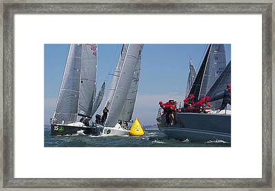 Action On The Bay Framed Print by Steven Lapkin