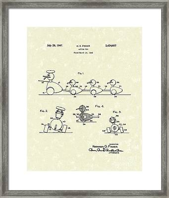 Action Toy 1947 Patent Art Framed Print by Prior Art Design