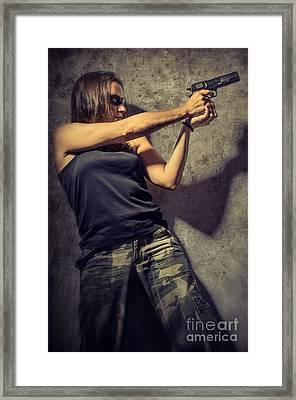 Action Woman I Framed Print by Carlos Caetano