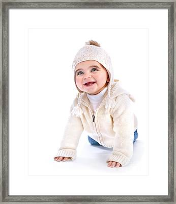 Active Baby Framed Print by Anna Omelchenko