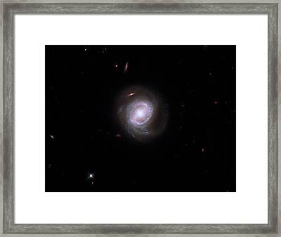Active Galaxy Markarian 817 Framed Print by Nasa/esa/stsci/hubble Sm4 Ero Team