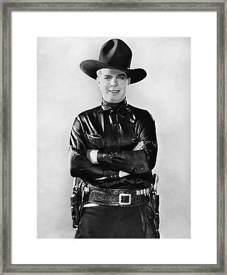 Actor Hoot Gibson Framed Print by Underwood Archives