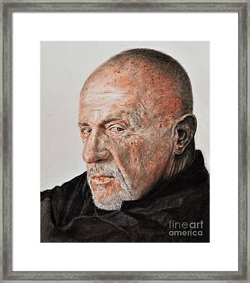 Actor Jonathan Banks As Mike Ehrmantraut In Breaking Bad Framed Print by Jim Fitzpatrick