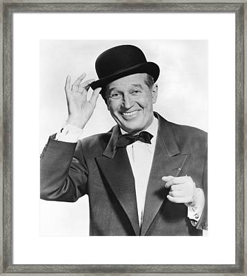 Actor Maurice Chevalier Framed Print by Underwood Archives