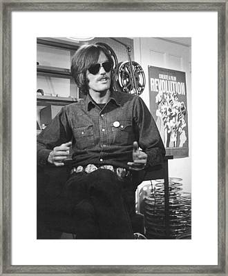 Actor Peter Fonda Framed Print by Underwood Archives