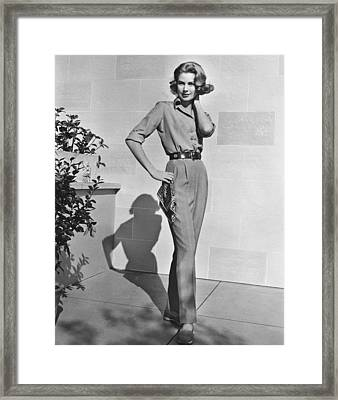 Actress Grace Kelly Framed Print by Underwood Archives