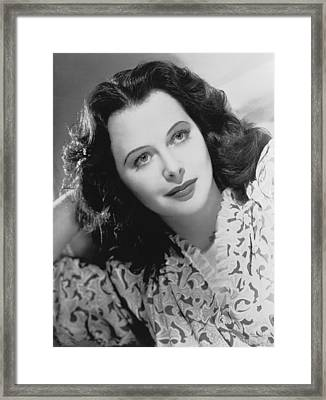 Actress Hedy Lamarr Framed Print by Underwood Archives