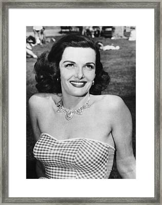 Actress Jane Russell Framed Print by Underwood Archives