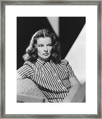Actress Katharine Hepburn Framed Print by Underwood Archives