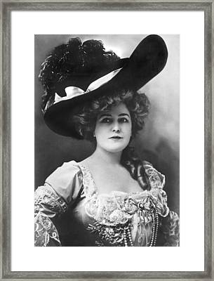 Actress Lillian Russell Framed Print by Underwood Archives