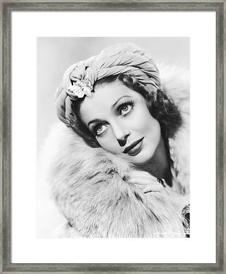 Actress Loretta Young Framed Print by Underwood Archives