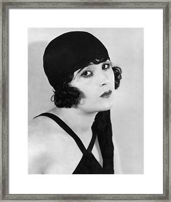Actress Margaret Livingston Framed Print by Underwood Archives