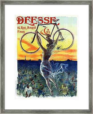 Ad Bicycle, C1898 Framed Print by Granger