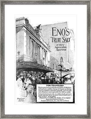 Ad Eno's Fruit Salt, 1919 Framed Print by Granger