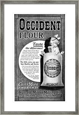 Ad Occident Flour, 1911 Framed Print by Granger