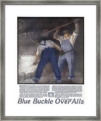 Ad Overalls, 1918 Framed Print by Granger