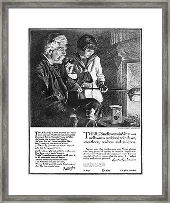 Ad Tobacco, 1918 Framed Print by Granger