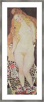 Adam And Eve, 1917-18 Framed Print by Gustav Klimt