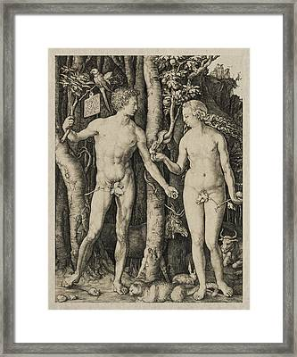 Adam And Eve Framed Print by Aged Pixel