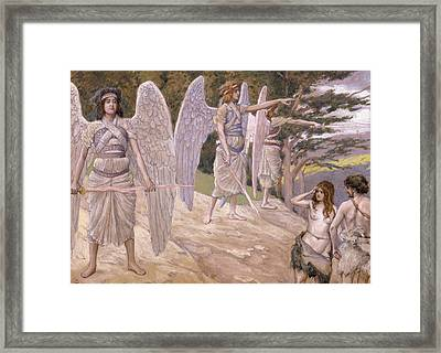 Adam And Eve Driven From Paradise Framed Print by James Jacques Joseph Tissot