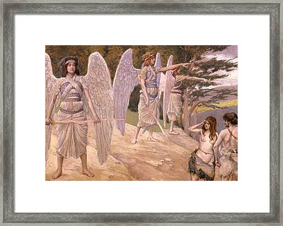 Adam And Eve Driven From Paradise Framed Print by Mountain Dreams