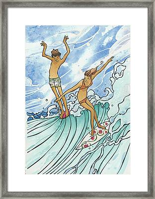 Adam And Eve Framed Print by Harry Holiday