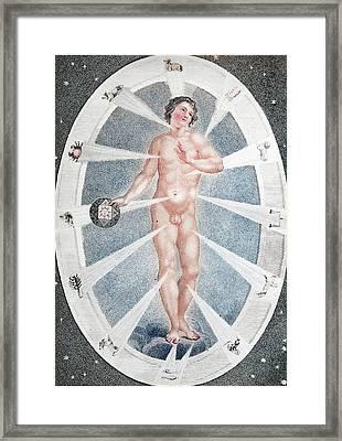 Adam As Zodiac Man Framed Print by Paul D Stewart