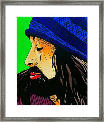 Adam Duritz Counting Crows Framed Print by Edward Pebworth