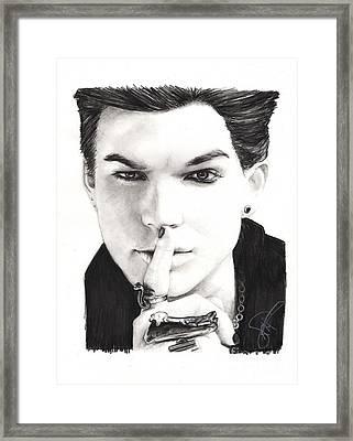 Adam Lambert Framed Print by Rosalinda Markle
