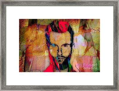 Adam Levine Maroon 5 Framed Print by Marvin Blaine