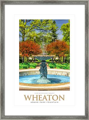 Adams Park Fountain Poster Framed Print by Christopher Arndt