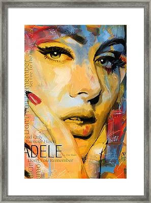 Adele Framed Print by Corporate Art Task Force