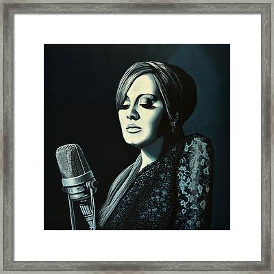 Adele Skyfall Painting Framed Print by Paul Meijering