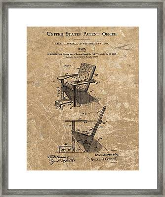 Adirondack Chair Patent Framed Print by Dan Sproul