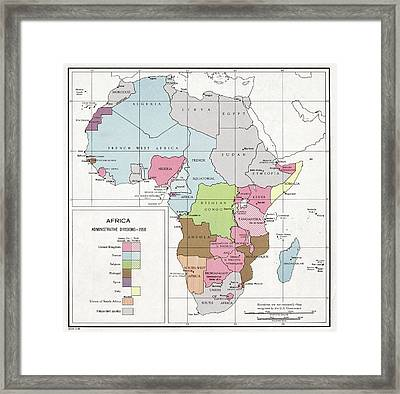 Administrative Divisions Of Africa Framed Print by Library Of Congress, Geography And Map Division