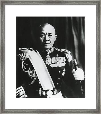 Admiral Chuichi Nagumo, Of The Japanese Framed Print by Everett