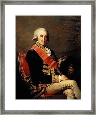 Admiral George Brydges Rodney Framed Print by Jean Laurent Mosnier
