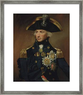 Admiral Horatio Nelson Framed Print by War Is Hell Store