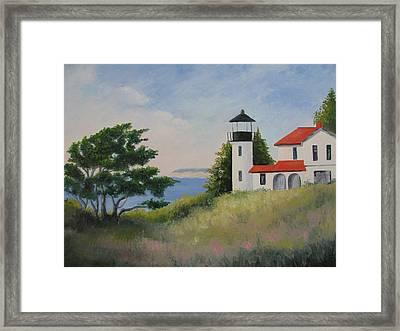 Admiralty Head Lighthouse Framed Print by Becky Bragg