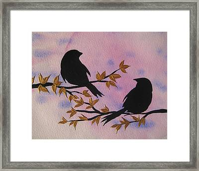 Admiring From Afar Framed Print by Cathy Jacobs