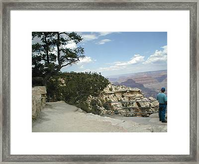 Admiring The View Framed Print by Minnie Davis