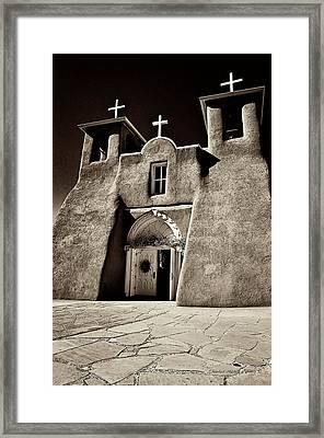 Adobe Church Framed Print by Charles Muhle