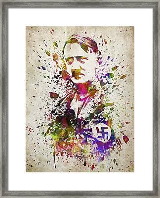 Adolf Hitler In Color Framed Print by Aged Pixel