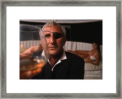 Adolfo Celi As Emilio Largo On The Set Of Thunderball Framed Print by The Phillip Harrington Collection