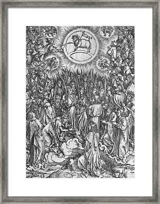 Adoration Of The Lamb Framed Print by Albrecht Durer or Duerer