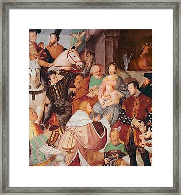 Adoration Of The Magi Framed Print by Gaudenzio Ferrari