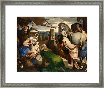Adoration Of The Magi  Framed Print by Mountain Dreams